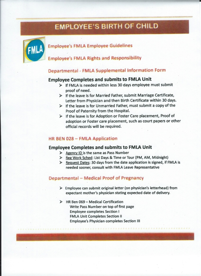 Maternitypaternity leave info plus how to use fmla for baby fmla baby bonding 1 falaconquin